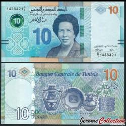 TUNISIE - Billet de 10 Dinars - Dr. Tawhida ben Cheikh - 20.03.2020 P96a