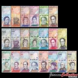 VENEZUELA - SET / LOT de 21 Billets Différents - Animaux - 2007 / 2018 P88 à P101