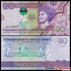 TURKMENISTAN - Billet de 20 Manat - 2012 P32a