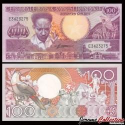 SURINAME - Billet de 100 Gulden - Toucan - 1986 P133a1