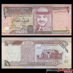 JORDANIE - Billet de 1/2 Dinar - Roi Hussein II - 1997 P28b