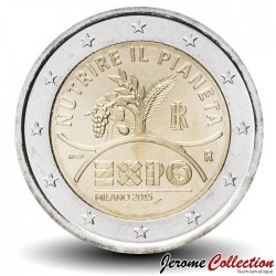 ITALIE - PIECE de 2 EURO - Exposition universelle - 2015 Km#380