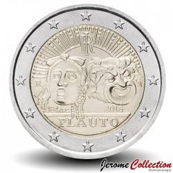 ITALIE - PIECE de 2 EURO - Titus Maccius Plautus - 2016 Km#392