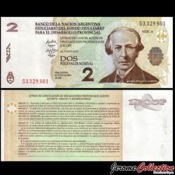 ARGENTINE - Billet de 2 Pesos - Juan Bautista Alberdi - 2006 PS2751a.2