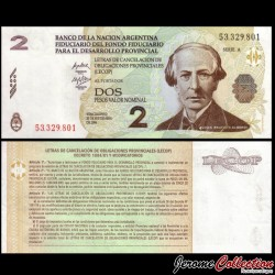 ARGENTINE - Billet de 2 Pesos - Juan Bautista Alberdi - 2006 S2751a2
