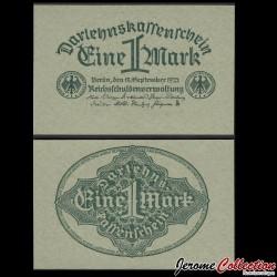 ALLEMAGNE / DARLEHENSKASSENSCHEINE - Billet de 1 Mark - 1922 P61a