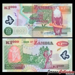 ZAMBIE - Billet de 1000 Kwacha - Polymer - 2006 P44e