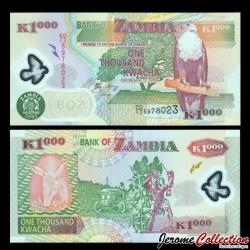 ZAMBIE - Billet de 1000 Kwacha - Polymer - 2005 P44d