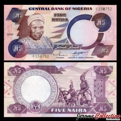 NIGERIA - Billet de 5 Naira - 2002 P24g2