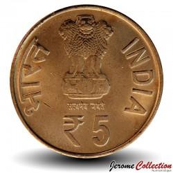INDE - PIECE de 5 Roupies - 60 ans du Parlement indien - 2012