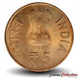 INDE - PIECE de 5 Roupies - Le contrôleur et vérificateur général de l'Inde - 2010