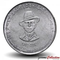 INDE - PIECE de 5 Roupies - Shaheed Bhagat Singh - 2007 Km#406