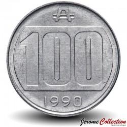 ARGENTINE - PIECE de 100 australes - 1990 Km#103