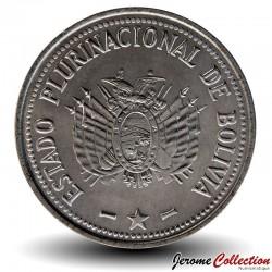 BOLIVIE - PIECE de 50 Centavos - 2012