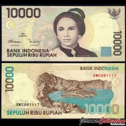 INDONESIE - Billet de 10000 Rupiah - Tjut Njak Dhien - 1998 / 1999 P137b