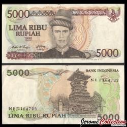 INDONESIE - Billet de 5000 Rupiah - Tekoe Oemar - 1986 P125a
