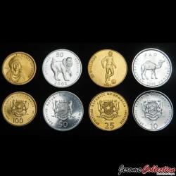 SOMALIE - SET / LOT de 4 PIECES de 10 25 50 100 Shillings - 2000 2001 2002