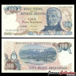 ARGENTINE - Billet de 100 Pesos - 1985 P315a2
