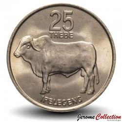 BOTSWANA - PIECE de 25 Thebe - Zébu - 1976 Km#6
