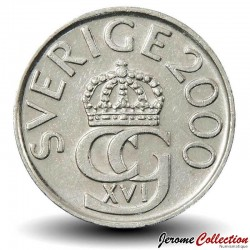 SUEDE - PIECE de 5 Kronor Carl Gustaf XVI - 2000 Km#853