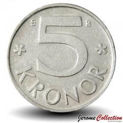 SUEDE - PIECE de 5 Kronor Carl Gustaf XVI - 2000