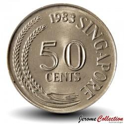 SINGAPOUR - PIECE de 50 Cents - Rascasse volante - 1969