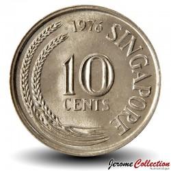 SINGAPOUR - PIECE de 10 Cents - Un hippocampe - 1976