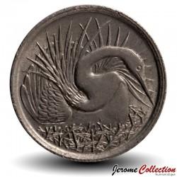 SINGAPOUR - PIECE de 5 Cents - Oiseau-serpent - 1984 Km#2a