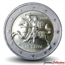 LITUANIE - PIECE de 2 Euro - Le chevalier Vytis - 2020 Km#212