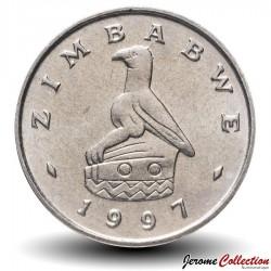 ZIMBABWE - PIECE de 5 Cents - Lièvre des buissons - 1999