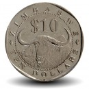 ZIMBABWE - PIECE de 10 Dollars - Buffle d'eau - 2003