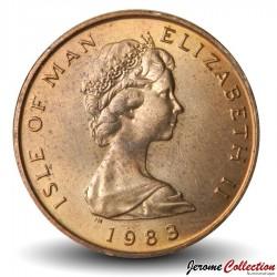 ILE DE MAN - PIECE de 2 Pence - Crave à bec rouge - 1983