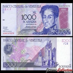 VENEZUELA - Billet de 5000 Bolivares - Simón Bolívar - 1998 P79a