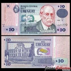 URUGUAY - Billet de 10 Pesos Uruguayos - Eduardo Acevedo Vázquez - 1998 P81a