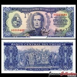 URUGUAY - Billet de 50 Pesos - Général José Gervasio Artigas - 1967 P46a4