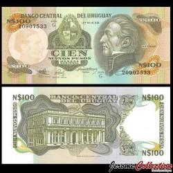 URUGUAY - Billet de 100 Nuevos Pesos - Général José Gervasio Artigas - 1987 P62Aa