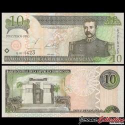 REPUBLIQUE DOMINICAINE - Billet de 10 PESOS ORO - 2002 P168b