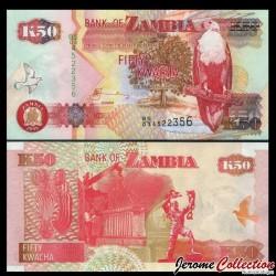ZAMBIE - Billet de 50 Kwacha - Pygargue vocifer - 2009 P37h