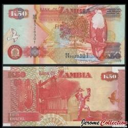 ZAMBIE - Billet de 50 Kwacha - Pygargue vocifer - 2006 P37e