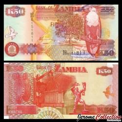 ZAMBIE - Billet de 50 Kwacha - Pygargue vocifer - 2003 P37d2