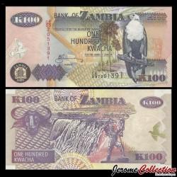 ZAMBIE - Billet de 100 Kwacha - Buffle - 2005 P38e