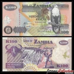 ZAMBIE - Billet de 100 Kwacha - Buffle - 2006 P38f