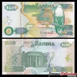 ZAMBIE - Billet de 20 Kwacha - Kudu - 1992 P36b