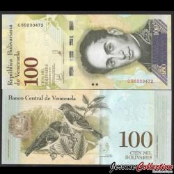 VENEZUELA - Billet de 100000 Bolivares - 13.12.2017 P100b4
