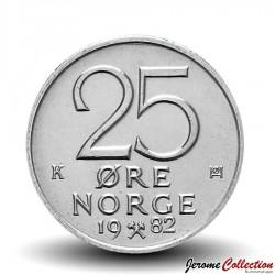 NORVEGE - PIECE de 25 Øre - Olav V - 1979
