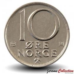 NORVEGE - PIECE de 10 Øre - Olav V - 1980 Km#416