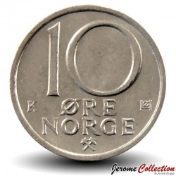 NORVEGE - PIECE de 10 Øre - Olav V - 1988 Km#416
