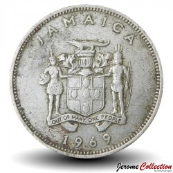 JAMAIQUE - PIECE de 20 Cents - Arbre maohes bleus - 1969