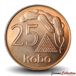 NIGERIA - PIECE de 25 Kobo - Cacahuètes - 1991 Km#11a