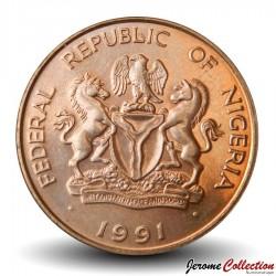NIGERIA - PIECE de 25 Kobo - Cacahuètes - 1991